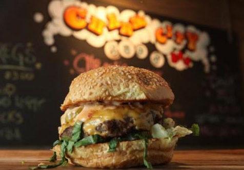 hamburger at Charm City Burger