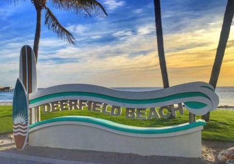 deerfield beach sign