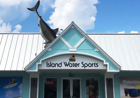 exterior of Island Water Sports building